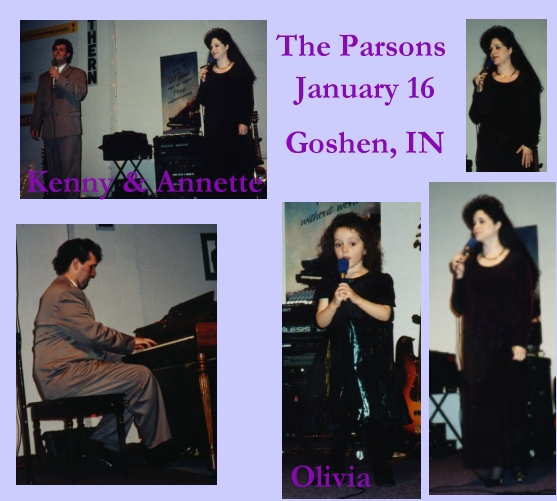Parsons in Concert - Jan. 16th